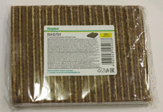 Вафли с шоколадным ароматом на каждый день содержат в составе пальмовое масло