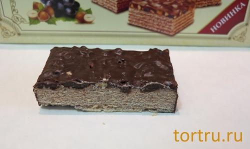 """Торт вафельный """"Шоколадница с орехами и изюмом"""", Коломенское содержит пальмовое масло"""