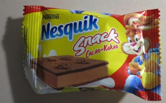Пирожное бисквитное с какао и молочным кремом Nesquick содержит пальмовое масло