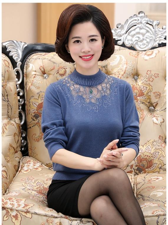 Красивая нарядная кофта, свитер с воротником, полувер aliexpress