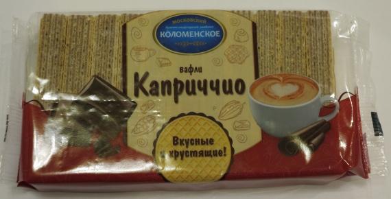 Вафли Каприччио Московский булочно-кондитерский комбинат Коломенское содержат в составе пальмовое масло