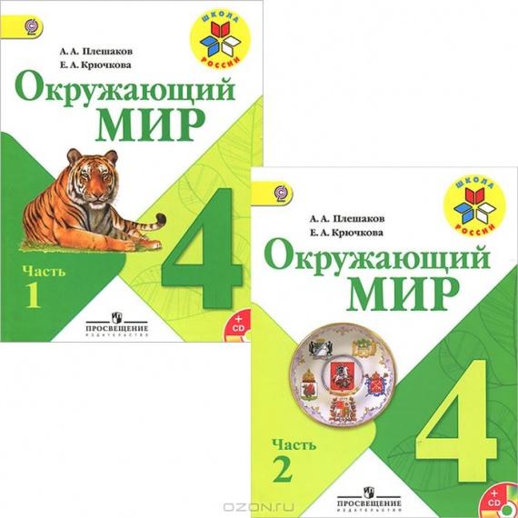 Окружающий мир. 4 класс. В 2 частях. Учебник